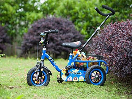 Tauki with Adjustable Bar Rear Baskets, Ride-On Toddler Trike 4 Old Boys Inch Wheels,
