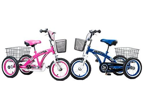 Tauki Tricycle Front Rear Baskets, Ride-On Trike 2 3 Years Old Grils