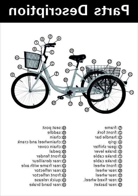 Unisex 6-Speed Tricycle Bike Cruise