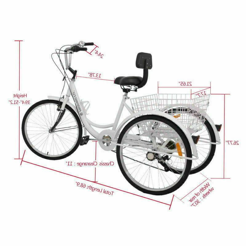 7-Speed Tricycle Bike Cruise With
