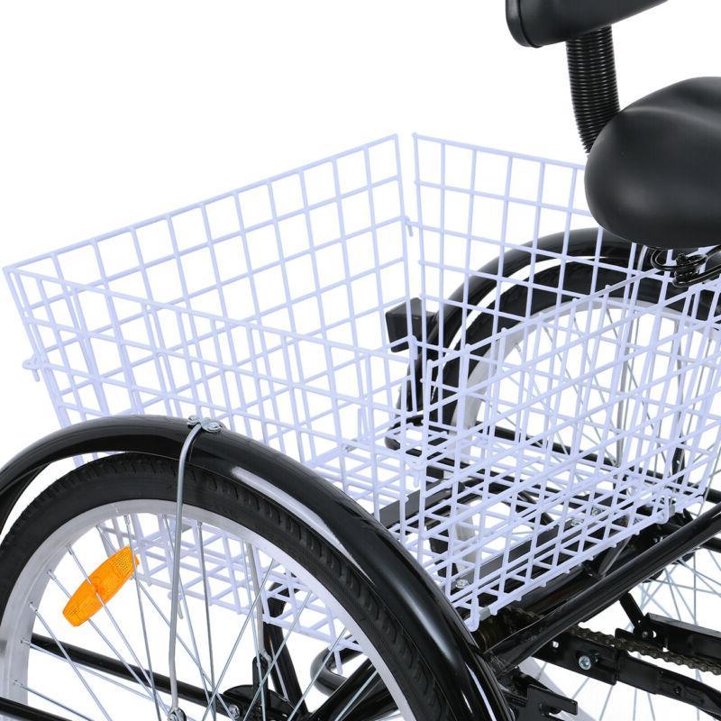 "Adult 24"" Trike Bicycle Shimano 7-Speed Tricycle Bike"