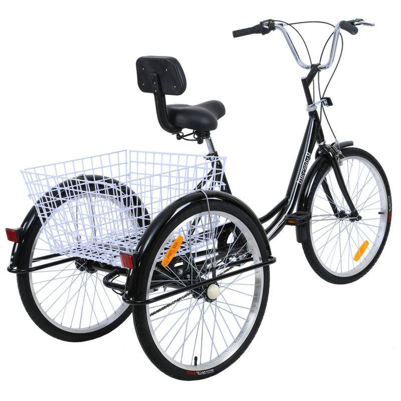 "Adult 24"" White Trike Tricycle Bike Cruise"