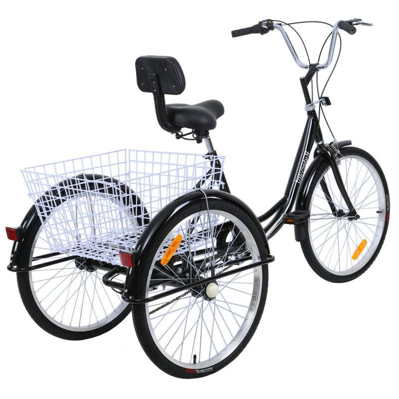"""Adult 24"""" Trike Bicycle Bike Cruise Black"""