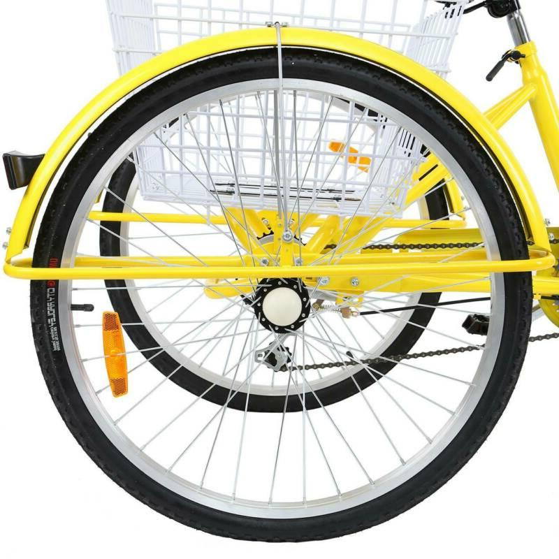 Ridgeyard inch 3-Wheel Bicycle Cruise Basket