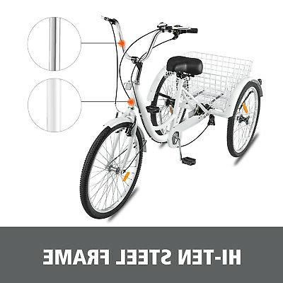 7 Speed 3 White Bicycle w/