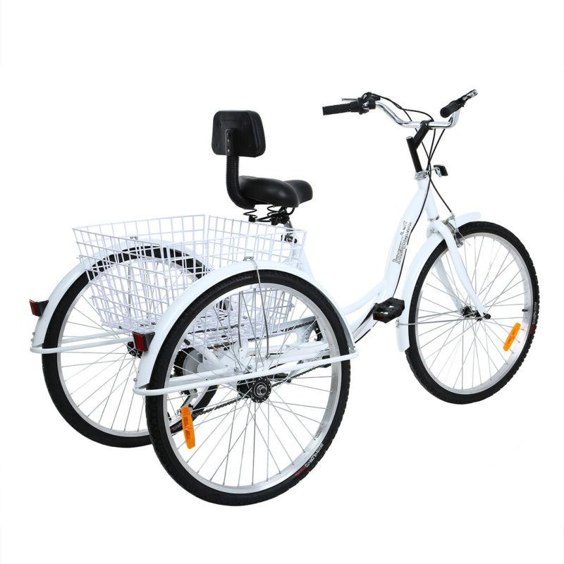 "Ridgeyard 26"" 7-Speed Adult 3-Wheel Tricycle Trike Bicycle B"
