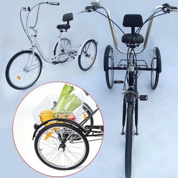 "Adult 24"" Unisex Tricycle Bike"