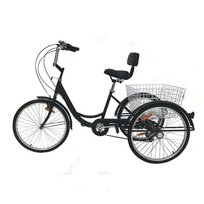 """Adult 24"""" 3-Wheel Tricycle Bike Cruise With"""