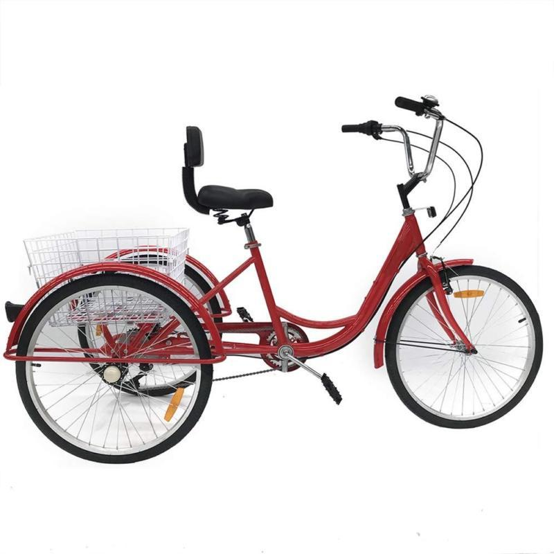 7-Speed Trike Bicycle Bike With Basket Adult