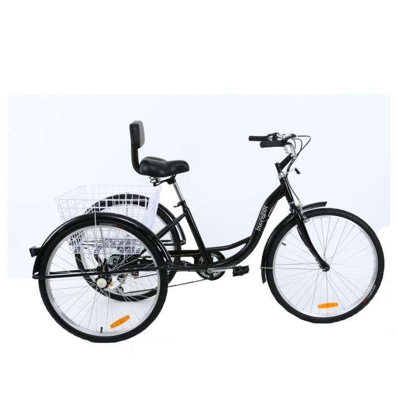 "7-Speed Adult 26"" 3-Wheel Tricycle Cruise Hi-ten steel"