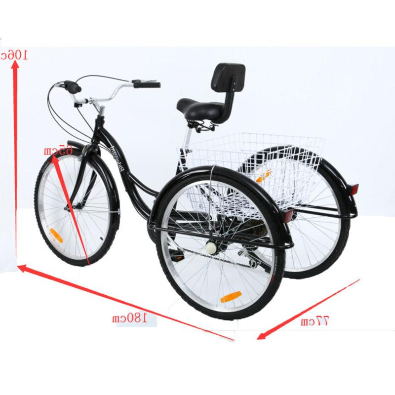 7-Speed Tricycle Trike Bicycle Cruise Hi-ten steel
