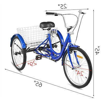 "Adult 24"" 1-Speed 3 Wheel Exercise"