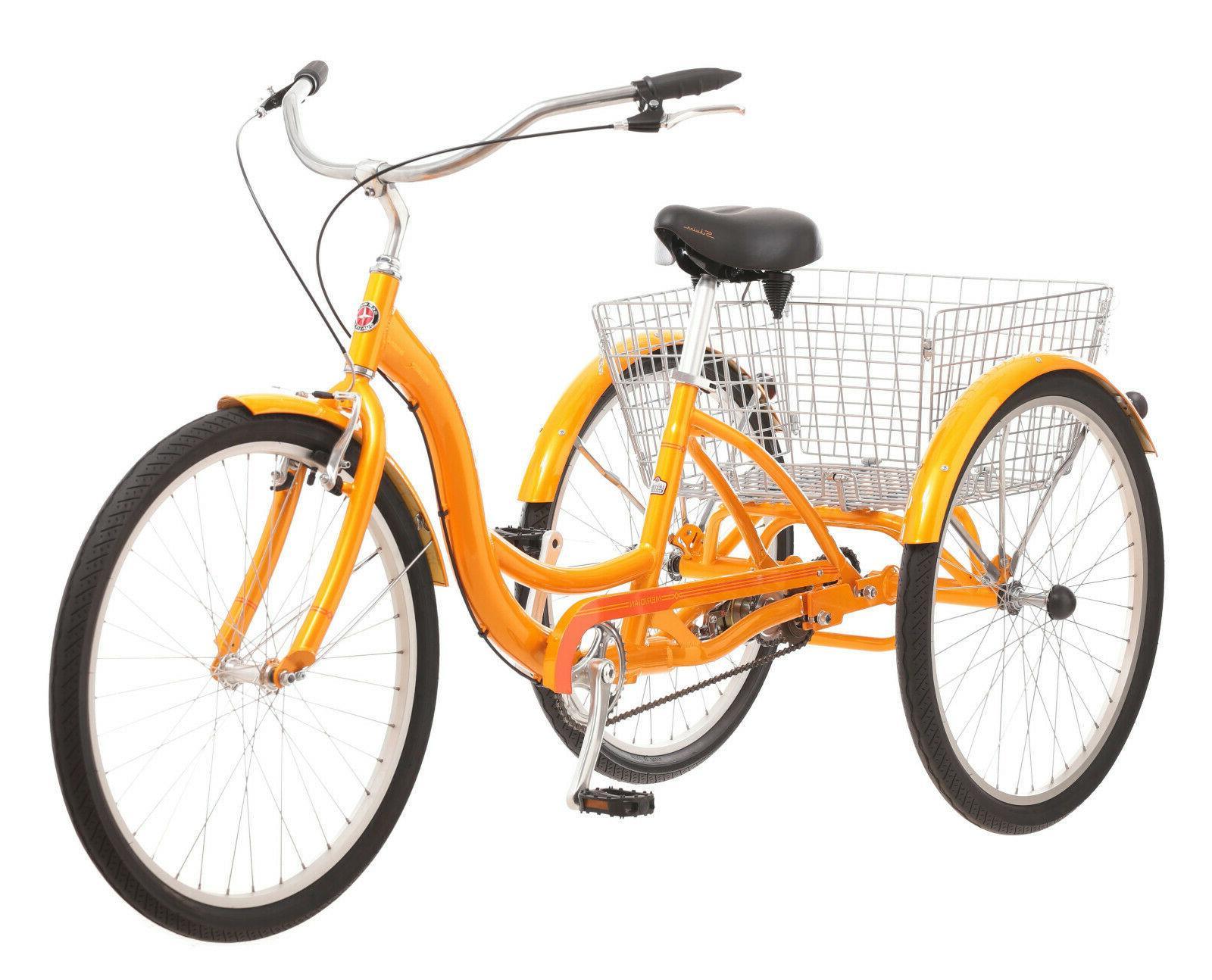 Adult Tricycle Bike Meridian Comfort Folding colors