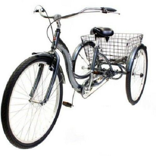 Adult Tricycle Schwinn Meridian 3 Wheel Comfort Folding Basket