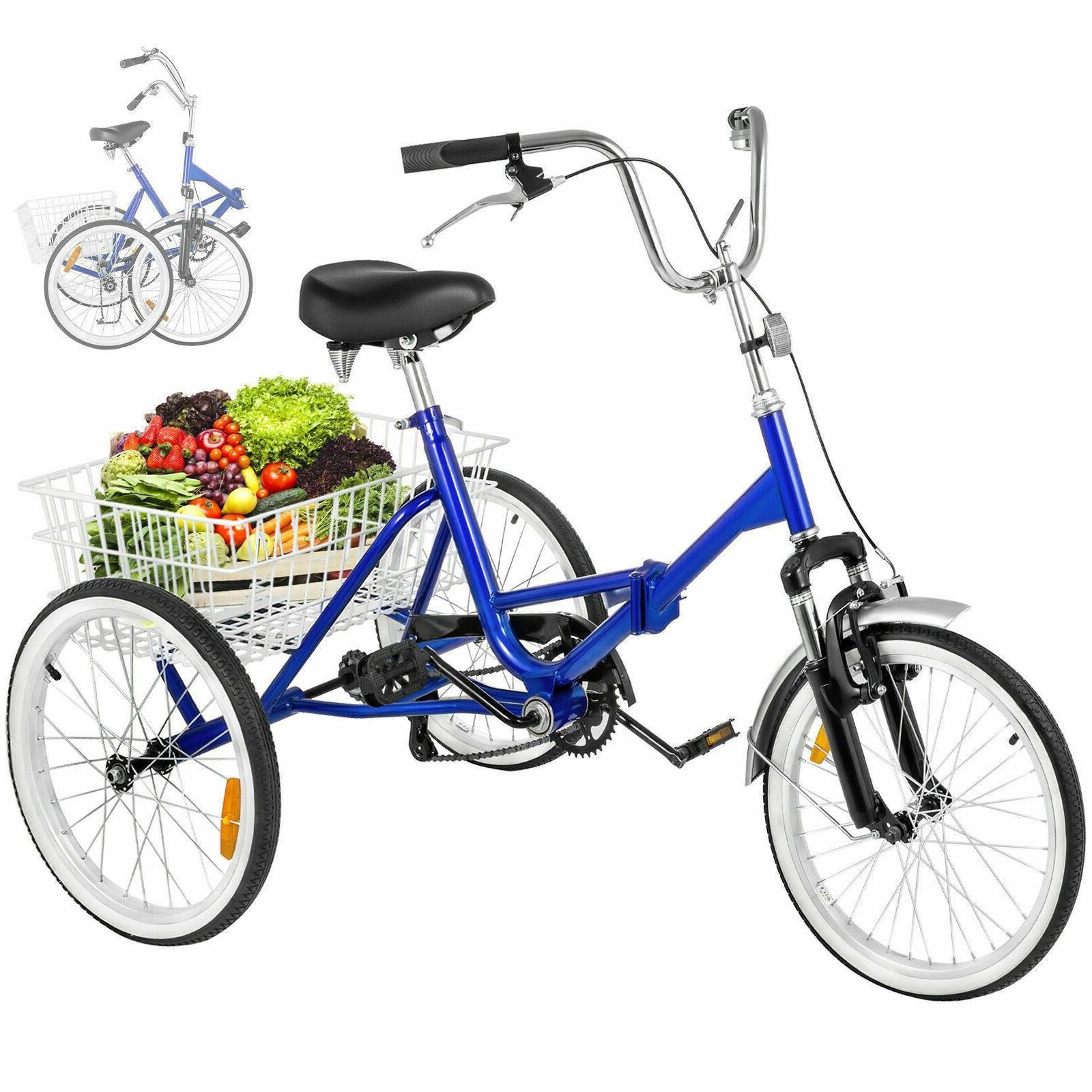 14''16''20''24''Adult Tricycles 3-Wheel Bike Elder/Teen