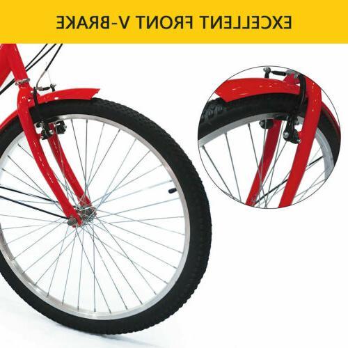 "Adult Bike Cruiser 7 Cargo Red 20""24""26"""