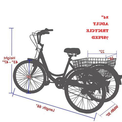 Adult Bike Cruiser Speed Cargo Basket