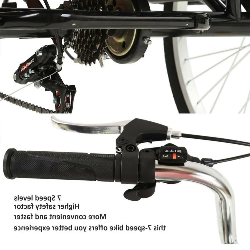 Adult Tricycles Trike Bike Speed 20″ Basket