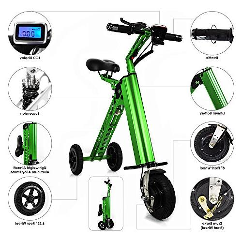CHO Aluminum Electric Folding Foldable Tricycle, Scooter, Bicycle