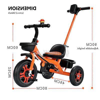 Baby Kids Toddler Steel Stroller Steer Handle Foldable