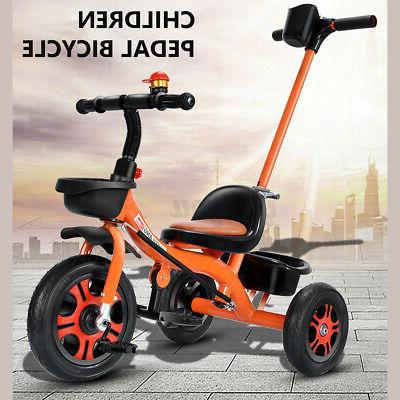 baby kids toddler tricycle steel stroller
