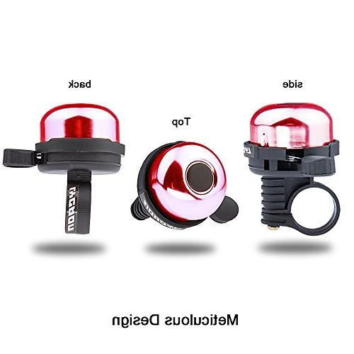 LYCAON Mini Ring Sound Horn Bike for Ebike, Tricycle, MTB Electric Bike, Red