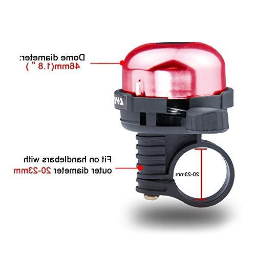 LYCAON Mini Alloy Ring Sound Horn Tricycle, Mountain Road Bike, MTB Electric Red