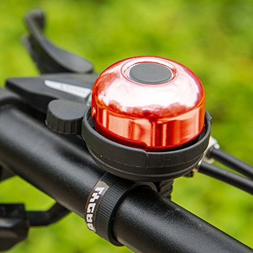 LYCAON 8 Colors Mini Ring Sound Horn Bike for Scooter, Cruiser Tricycle, Mountain Road Red