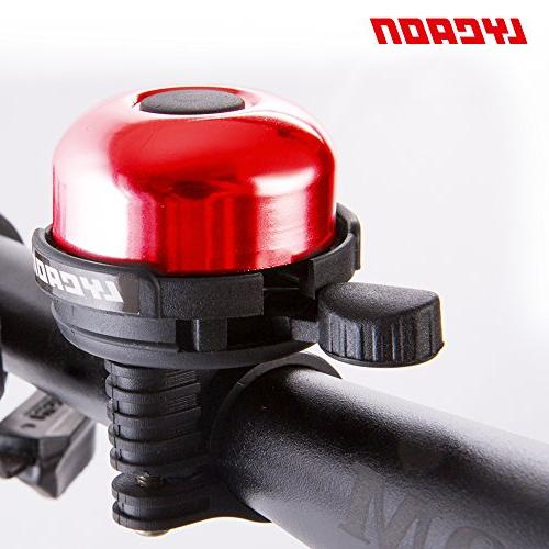 LYCAON 8 Mini Aluminum Alloy Ring Sound Bike for Ebike, MTB BMX Electric Red