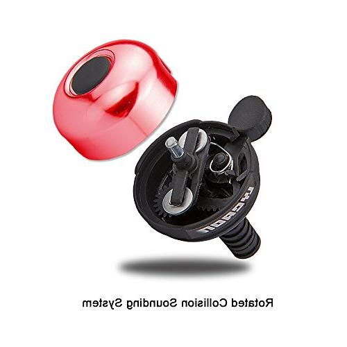 LYCAON Mini Aluminum Ring Loud Crisp Sound Horn Bike for Tricycle, Road MTB Red