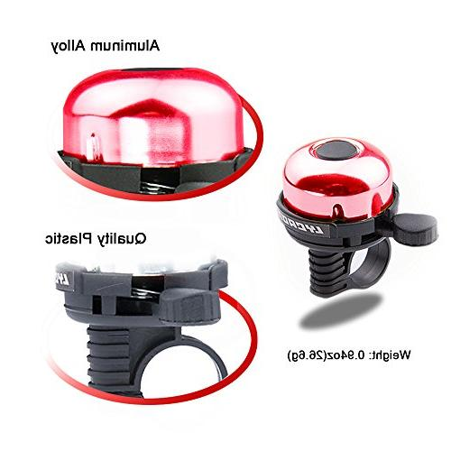 LYCAON Mini Ring Crisp Sound Horn for Cruiser Tricycle, Road MTB Red