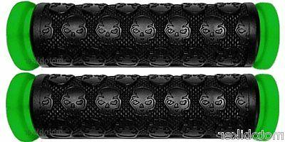 bicycle bmx green skull grips fit elite