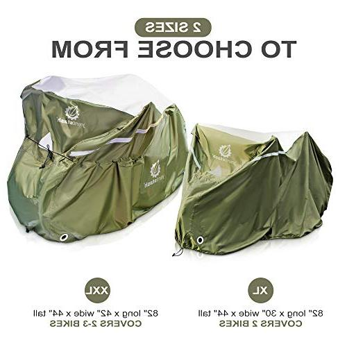 YardStash Extra Large Beach Cruiser 29er Mountain Bike Cover, Multiple Bike for Bikes with Child Seats or