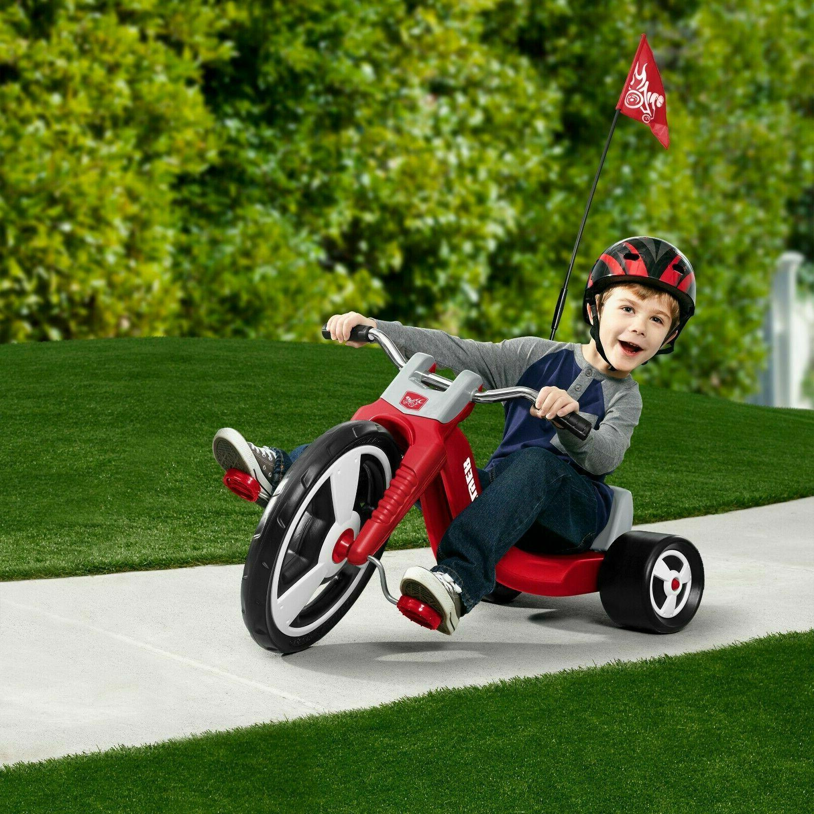 "Big Flyer®, Model Tricycle, 16"" Caps Kids Folding Plastic"