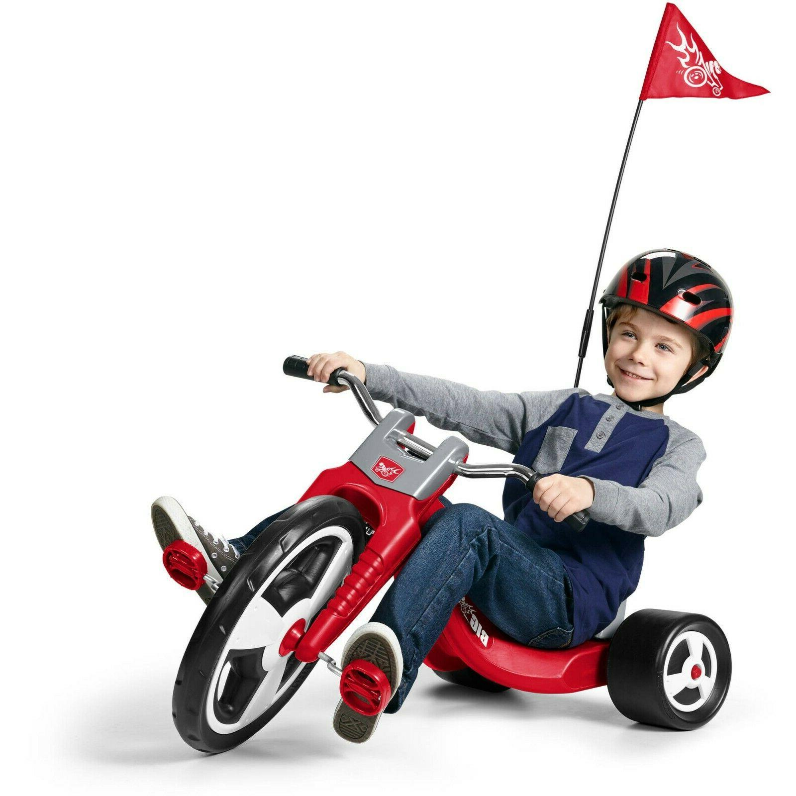 Big Flyer®, Model Tricycle Radio Plastic With Caps Kids Fol