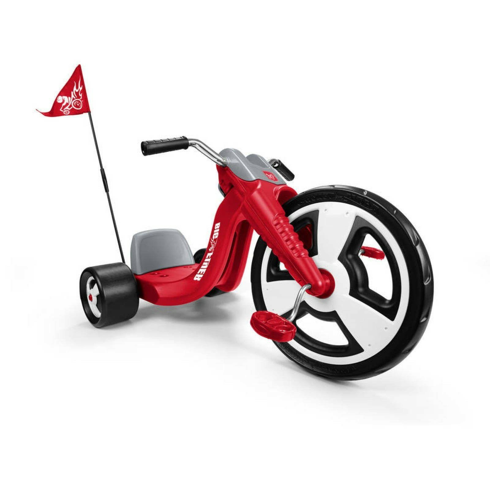 Big Tricycle Red Front Wheel Grips Thick