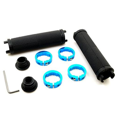 LYCAON Handlebar Grips, Non-Slip-Rubber with Aluminum Grip Cruiser Tricycle Chair Mountain Road Urban MTB BMX