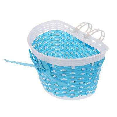 Bowknot Girls Boys Bicycle Front Basket for Childs/Kid Bike