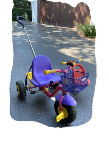 Children Push tricycle Bike in Grows With Seats