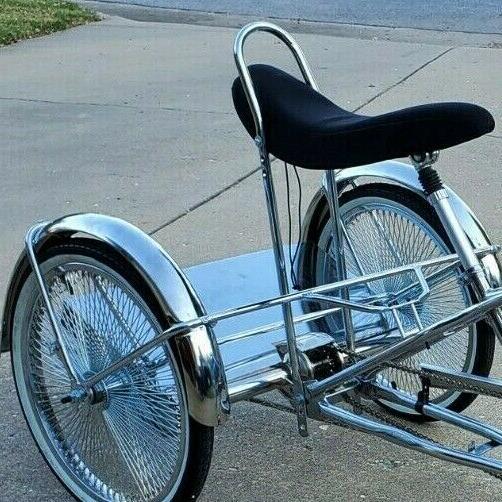 CHROME WHEEL MOTOR TRIKE CYCLE ELECTRIC W NEW