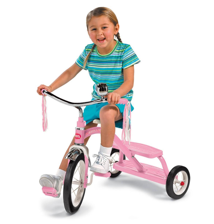"Radio Classic 10"" Dual Toddler Kid Ride"