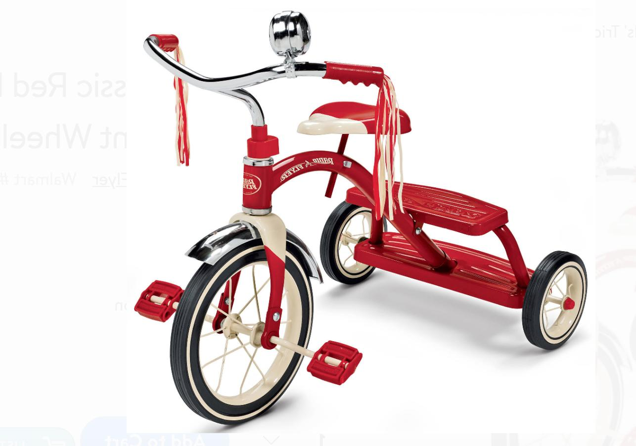 classic red dual deck tricycle 12 front
