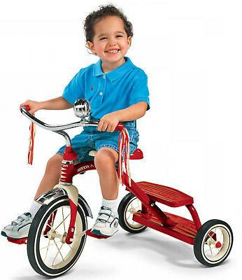 Classic Tricycle Dual-Deck Radio Flyer Wheels Fun Outdoor