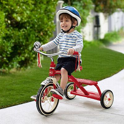 Classic Tricycle Dual-Deck Flyer Safe Kids Wheels