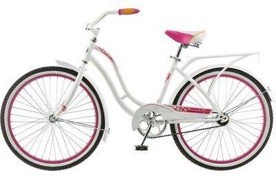 Schwinn Girls' White Pink Retro Comfort Carrier