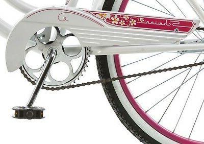 Schwinn Cruiser Bike Girls' White Comfort