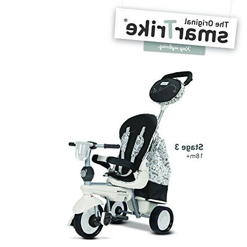 smarTrike 5-in-1 Baby Trike With Quiet Storage Bag - and White