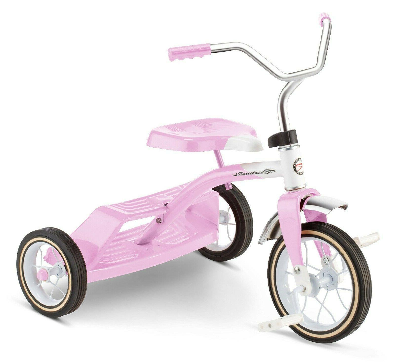 dual deck tricycle pink