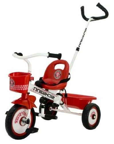 easy steer tricycle red white
