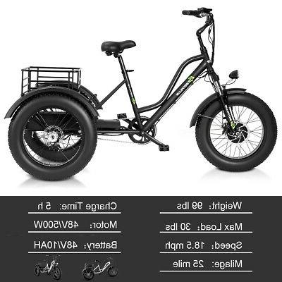 Electric Adults Tricycle 20'' Fat LCD 500W